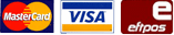 Logos of MasterCard Visa and Eftpos