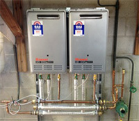 Rinnai Gas Instantaneous Hot Water Installation